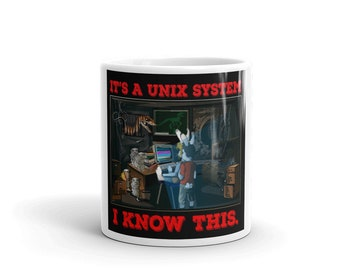 "Hacker Mug ""Its a Unix system, I know this"" From Jurassic Park"