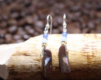 Australian Boulder Opal Earrings