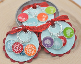 Silver Wine Charms | Bicycle Wine Charms | Tree Wine Charms | Snowflake Wine Charms | Colorful Wine Charms