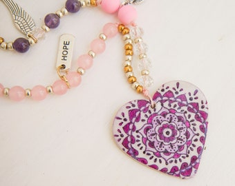 Mandala Heart- HOPE