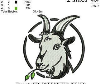 boer goat 2 embroidery machine . embroidery pattern . embroidery designs