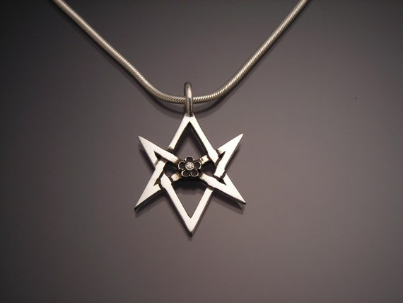 Sterling unicursal hexagram pendant mozeypictures Images