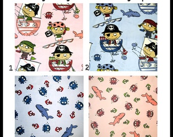 Custom two sided double minky PIRATE blanket you choose the color and texture for your punk rock baby or toddler girl boy or unisex