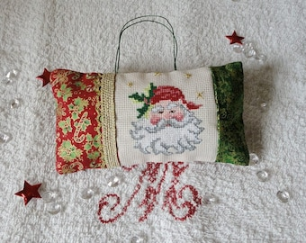 Embroidered door pillow, Santa decoration