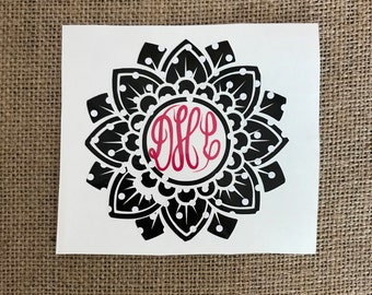 Mandala,Yeti Decal, Yeti Tumbler Decal, Yeti Monogram Decal, Yeti Cup Decal, Monogram Decal