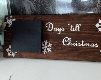 Days until Christmas wood sign, Christmas wood sign, Christmas countdown sign, Christmas countdown chalkboard, Holiday Sign, Christmas decor