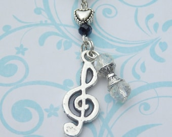 Music Lover's gift idea, Music Teacher Gift Thank You, Music Jewelry, Treble Clef  Music Note Necklace, Token of Appreciation, Music Gift