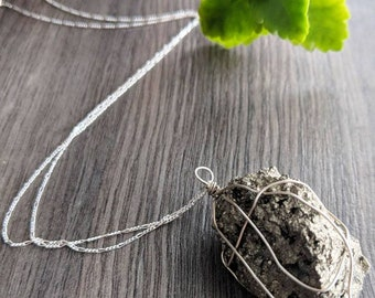 Audacious Raw Pyrite Necklace