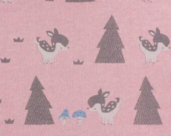 Pink x10cm bambi kiyohara Sweatshirt fleece fabric