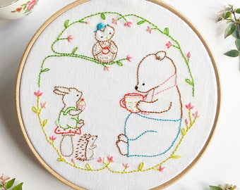 Friendship Circle - Hand Embroidery Pattern - PDF Pattern - Instant Download