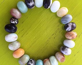 AMAZONITE Bracelet / Sanskrit Bead / CREATIVE Stone / Om Mani Padme Hum