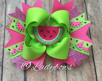 Watermelon Boutique Layered Bow