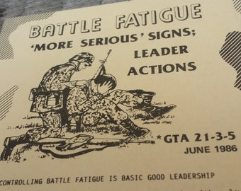 US Army Battle Guide Booklet