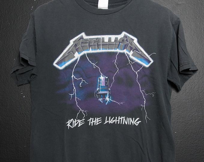 Metallica Ride the Lightning 1990's vintage Tshirt