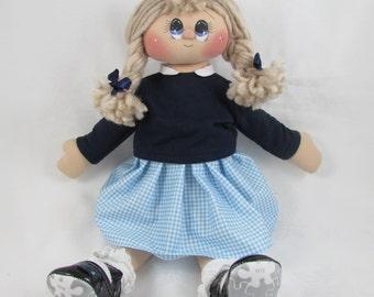 Rag Doll - Schoolgirl Susie, CUSTOM MADE