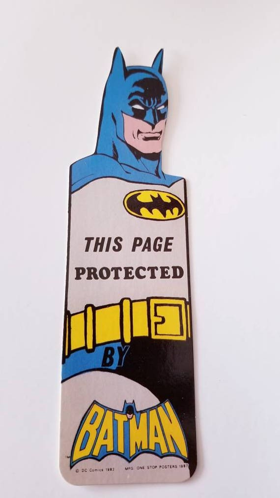 Vtg 80u0027s Batman Bookmark School Office Supply Vintage