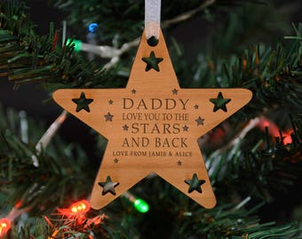 Star Christmas Personalised Hanging Decoration