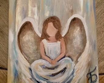 Brunette Sitting Angel