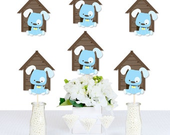 Boy Puppy Dog Decorations - DIY Doghouse Shaped Decorations - Baby Shower or Birthday Essentials - 20 Ct.