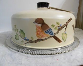Adorable hand-painted Cake Saver.