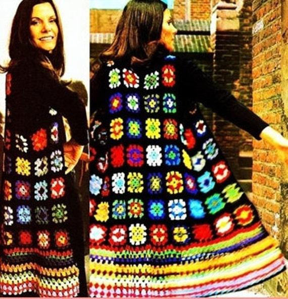 Crochet pattern long waistcoat in granny squares tunic crochet pattern long waistcoat in granny squares tunic jacket instant download pdf patchwork sweater vintage pattern coat vest dt1010fo