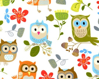 White Owls, Its Owl Good, from Timeless Treasures