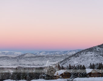 Wasatch Mountain Sunset Park City Utah Landscape Photograph Digital Download Wall Art