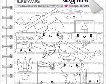 Graduation Stamp 80OFF COMMERCIAL USE Digi Digital Image School Digistamp Kawaii Stamps Student