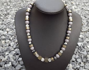 Chain Material Mix Grey