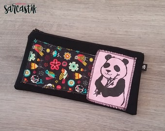 Panda Pencil case, zipper pouch, makeup case, gift idea