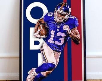 """Odell Beckham Jr. """"OBJ"""" New York Giants Poster/Print"""