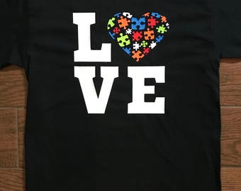 LOVE Autism Puzzle Piece Shirt