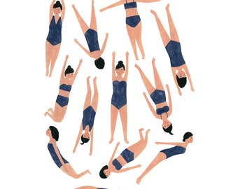 Swimmers print 11x14