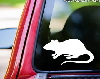 "Rat vinyl decal sticker 5"" x 2.5"" Black Pack Rodent  *Free Shipping*"