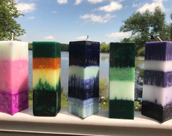 CRYSTAL CANDLE PILLAR small square