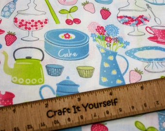 Kitchen cooking baking 100% cotton fabric 59 inch / 150cm farmhouse country