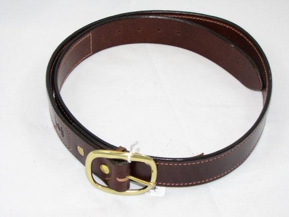 sur mesure taille cousu anglais bride ceinture en cuir marron. Black Bedroom Furniture Sets. Home Design Ideas