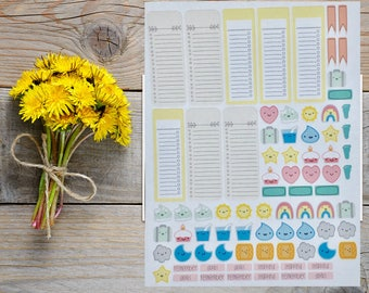 Icons and List Planner Stickers| Day Designer Stickers Have Fun With The Tickers.