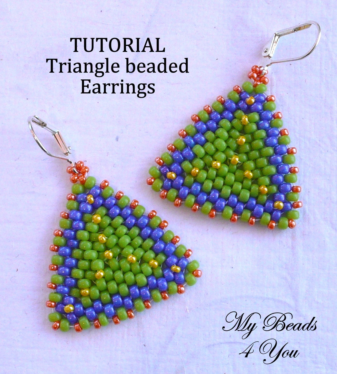 Beadwoven tutorial beaded earring tutorial seed bead zoom baditri Image collections