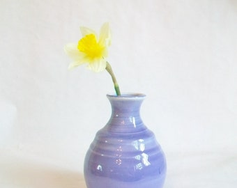 Purple Vase - Sweet, Simple Vase - Hand Made ---  Lavender - Iris - Amethyst - Periwinkle - Orchid - Wheel Thrown - Ready to Ship Now