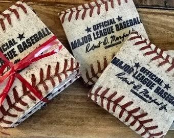 Baseball Coasters set of 4