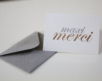 maxi merci letterpress mini card
