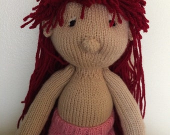 Knitted doll Mabel