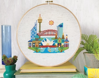 Pretty Little Sydney - printed version - Satsuma Street Modern Cross stitch pattern