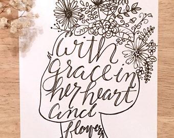 Grace in Her Heart Print
