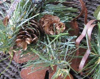 3 Primitive Rusty Snowflakes # 6