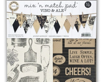 Canvas Corp Mix & Match Pad, Vino and Ale Collection, 12X12 Scrapbooking and Paper Crafting