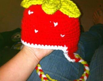 Strawberry hat.