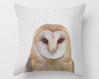 Owl decor Owl throw pillow Peekaboo animals Owl pillow Owl Nursery decor Animal decor Kids Room Decor Baby Shower Contemporary decor