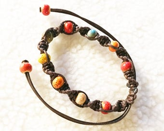 Ceramic beads, weaving, Chinese style, colorful, special gift, birthday gift, daily, artificial, party
